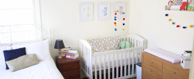 Bean's Corner - Creating a unique space in our bedroom for our new baby! #baby #newborn #babysroom http://www.ashleywillingham.com/beans-corner/